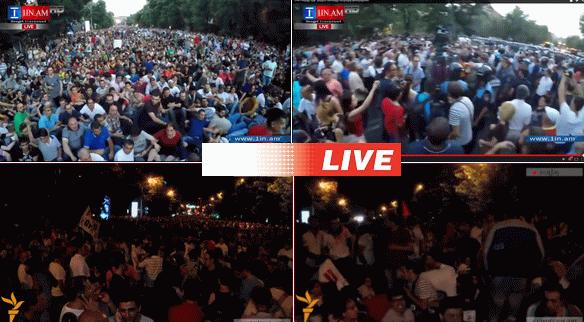 erevan armenia protest live stream