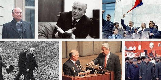 perestroika gorbachev eltsin 1991